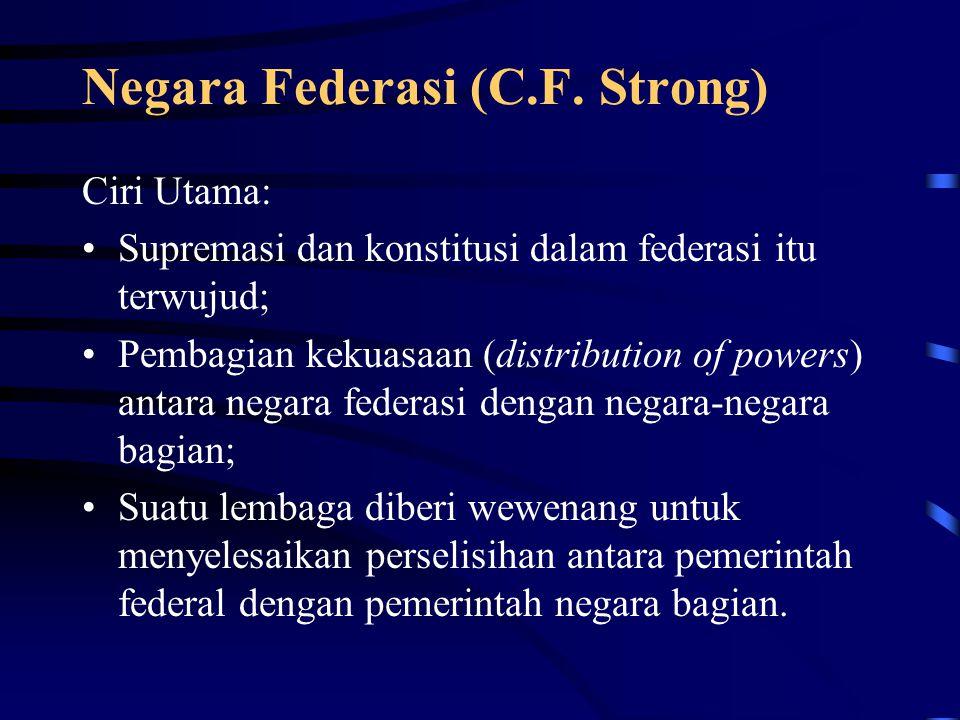 Negara Federasi (C.F. Strong)
