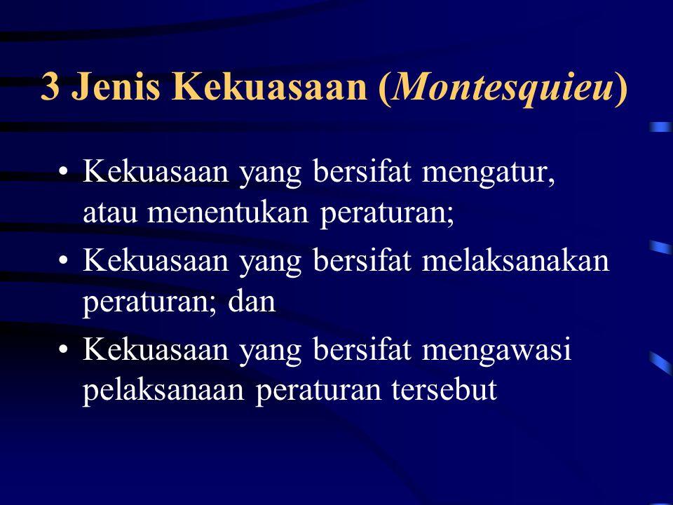 3 Jenis Kekuasaan (Montesquieu)