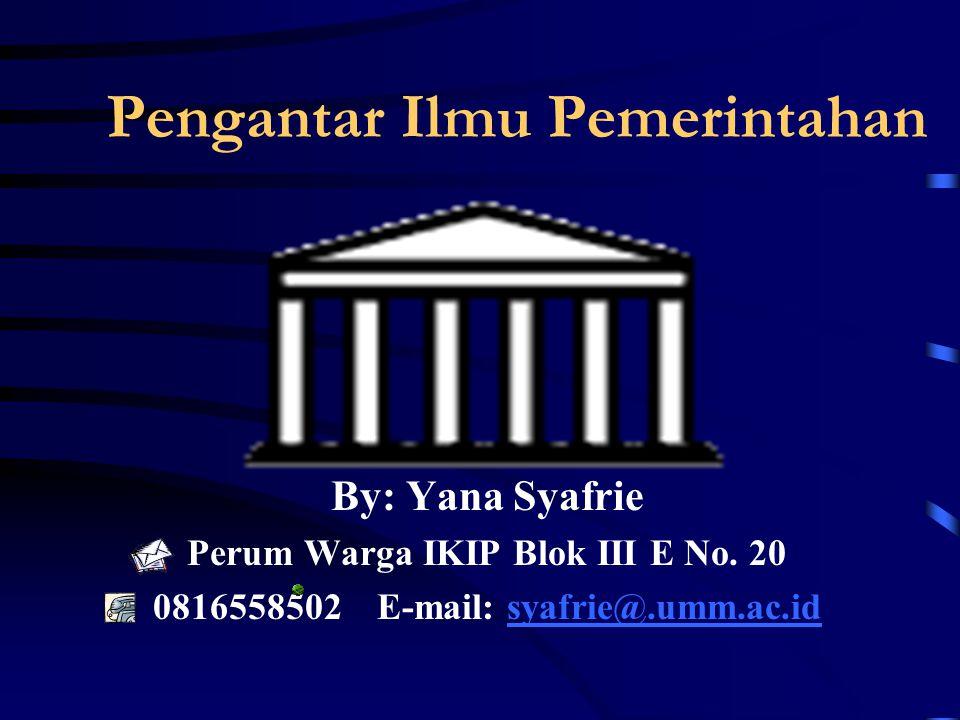 Pengantar Ilmu Pemerintahan