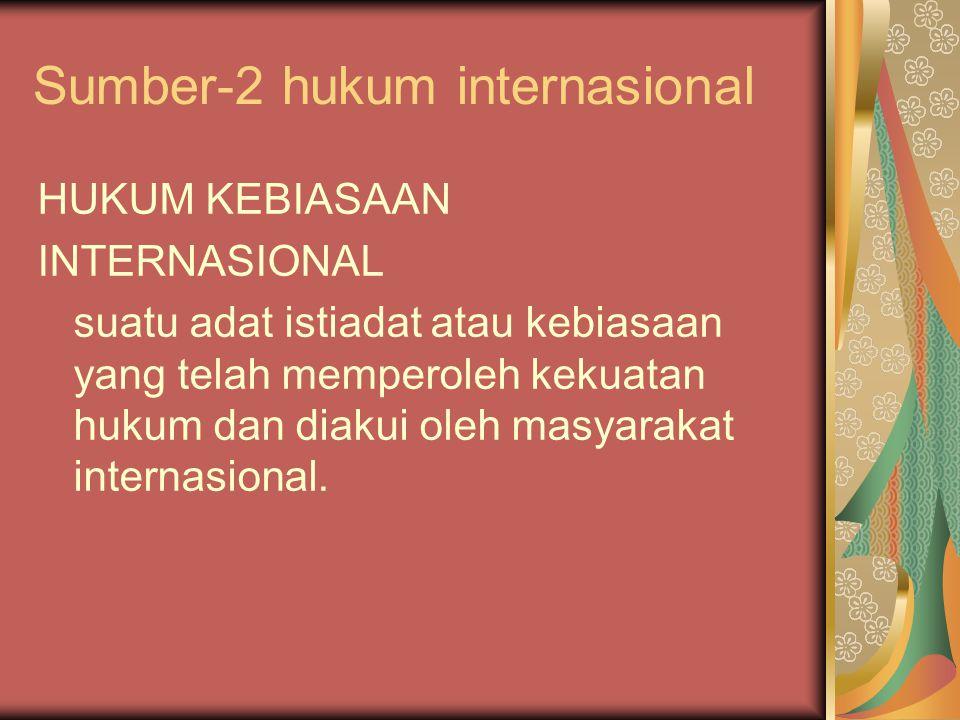 Sumber-2 hukum internasional