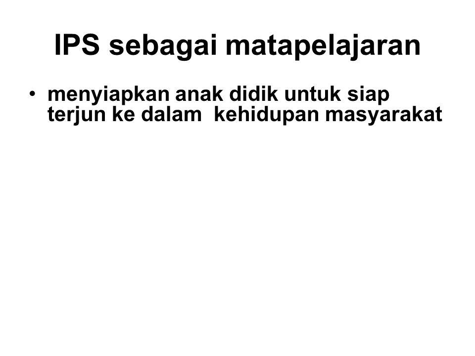 IPS sebagai matapelajaran