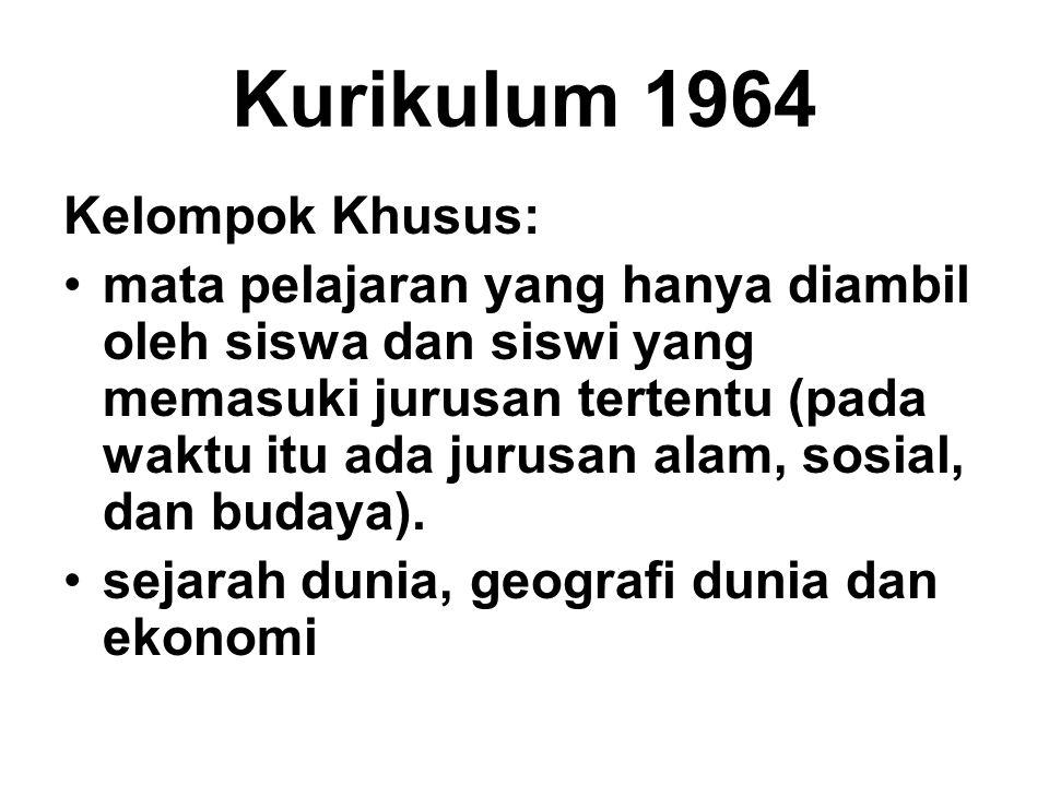 Kurikulum 1964 Kelompok Khusus: