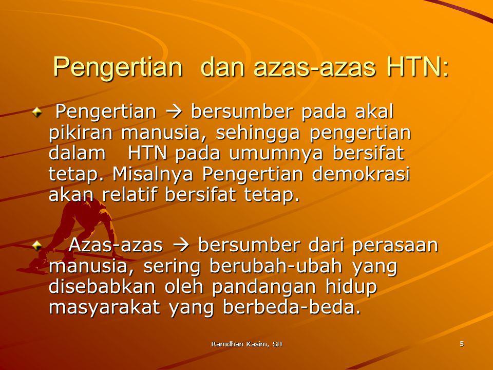 Pengertian dan azas-azas HTN: