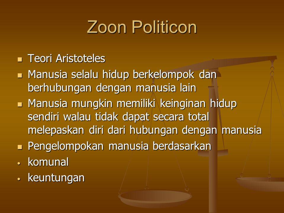 Zoon Politicon Teori Aristoteles