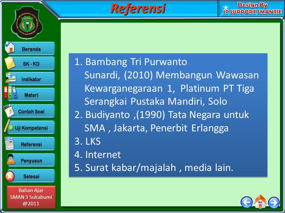 Referensi 1. Bambang Tri Purwanto Sunardi, (2010) Membangun Wawasan
