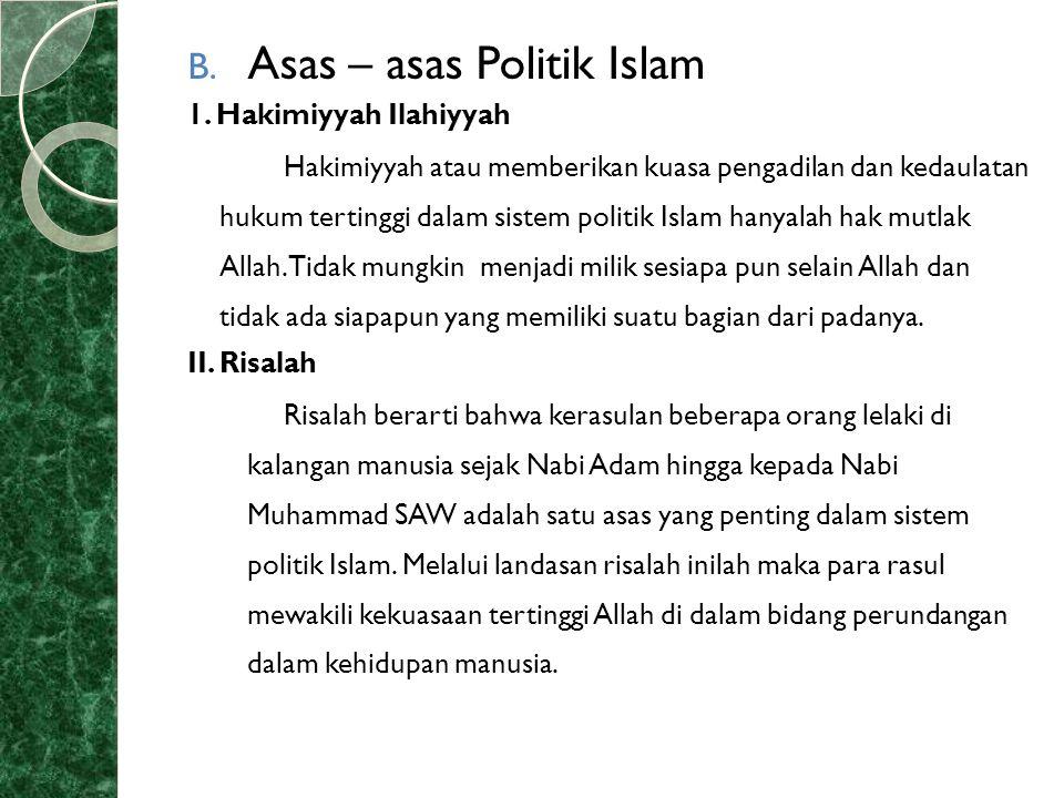 Asas – asas Politik Islam