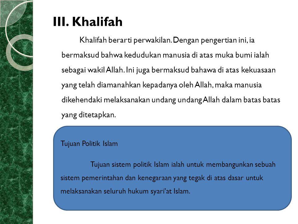III. Khalifah