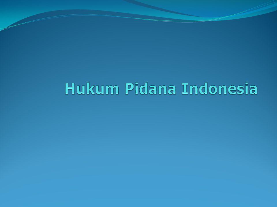 Hukum Pidana Indonesia