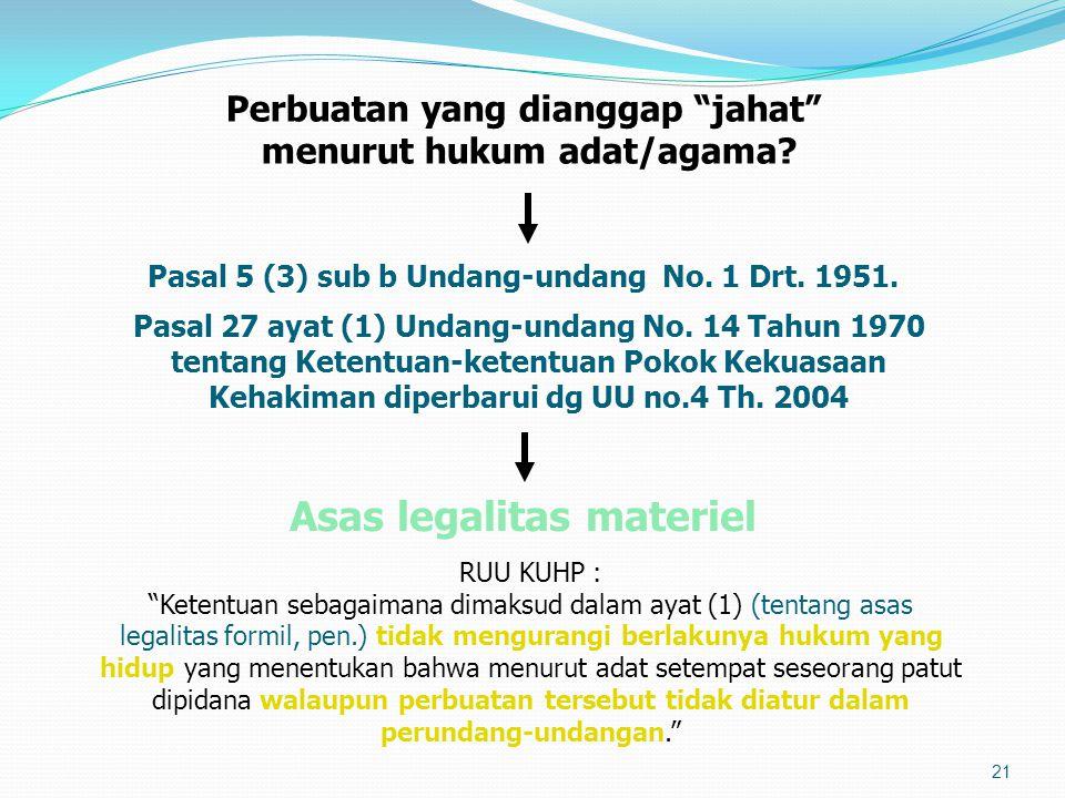 Asas legalitas materiel
