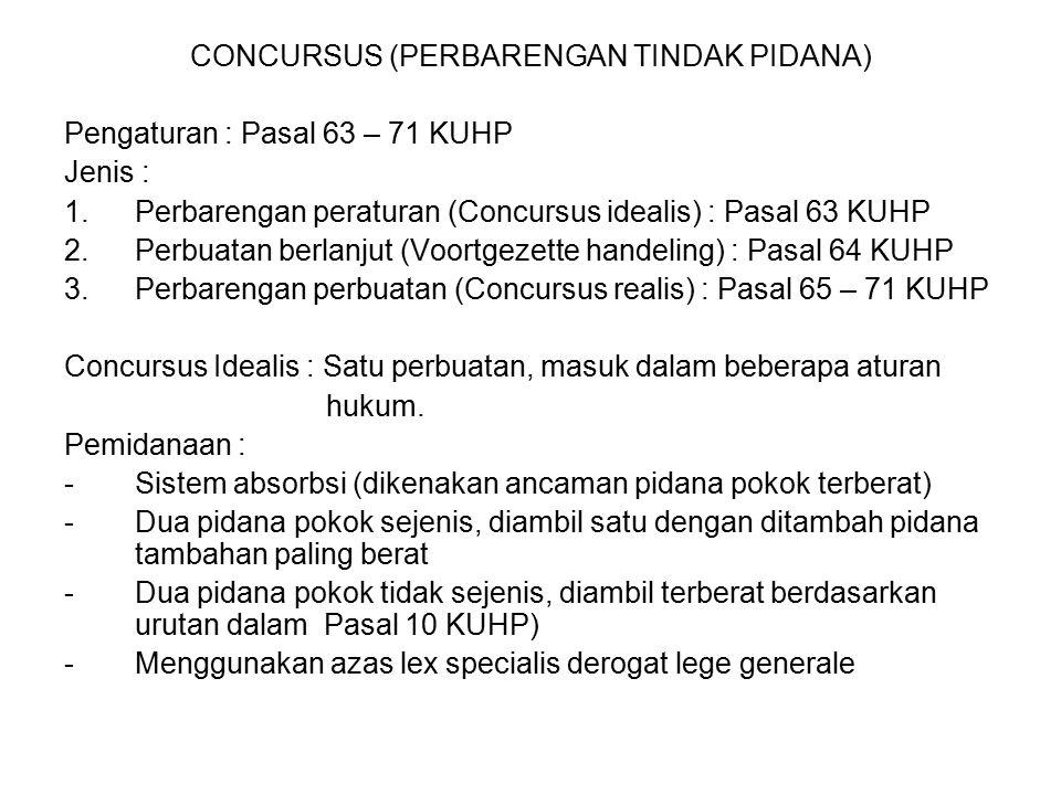 CONCURSUS (PERBARENGAN TINDAK PIDANA)