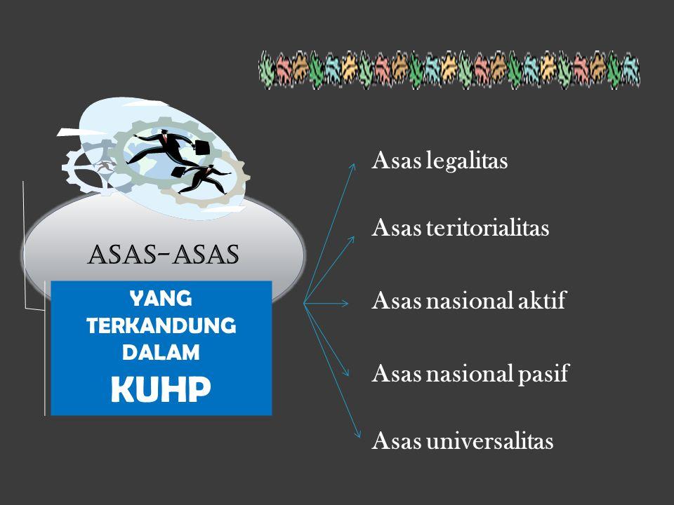 KUHP Asas legalitas Asas teritorialitas ASAS-ASAS Asas nasional aktif