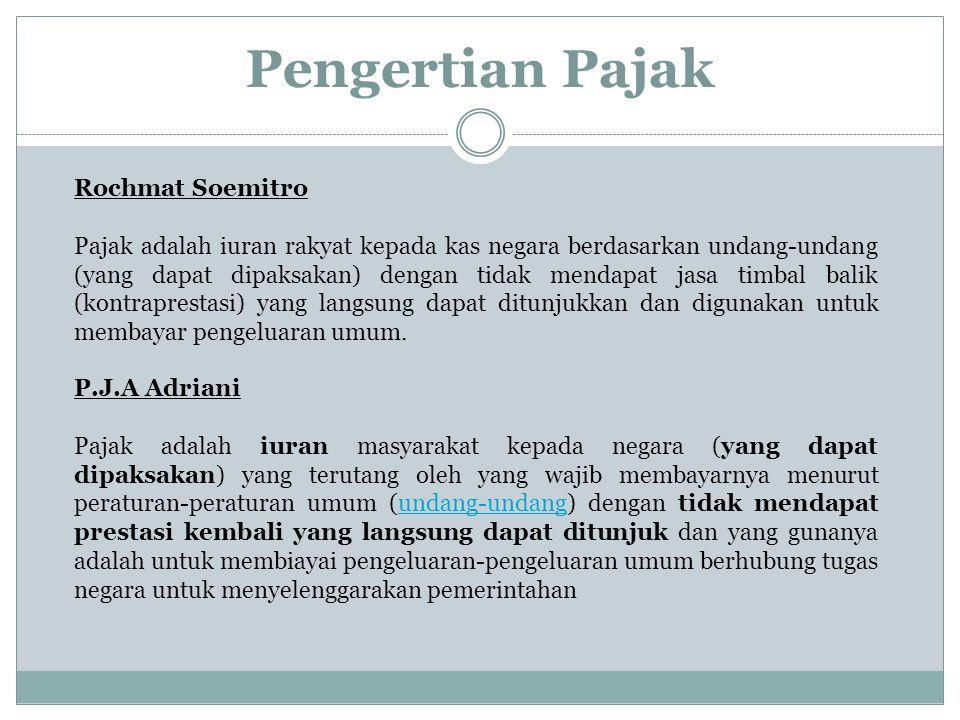 Pengertian Pajak Rochmat Soemitro