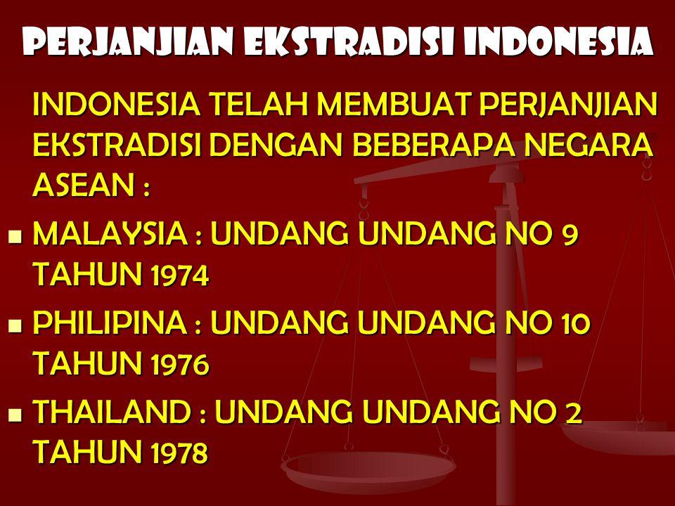 PERJANJIAN EKSTRADISI INDONESIA