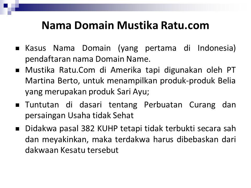 Nama Domain Mustika Ratu.com