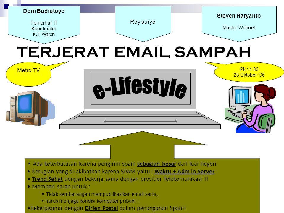 TERJERAT EMAIL SAMPAH e-Lifestyle