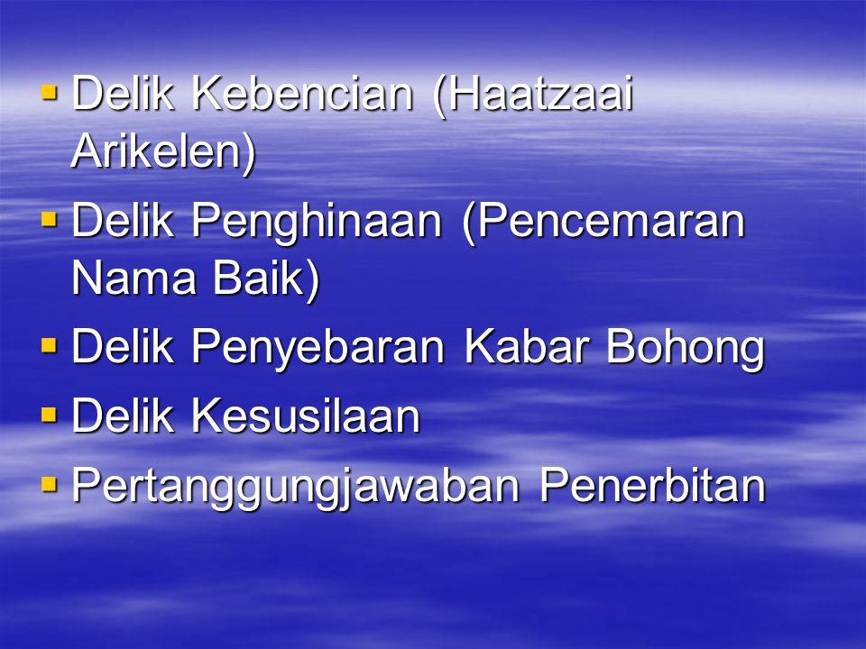 Delik Kebencian (Haatzaai Arikelen)