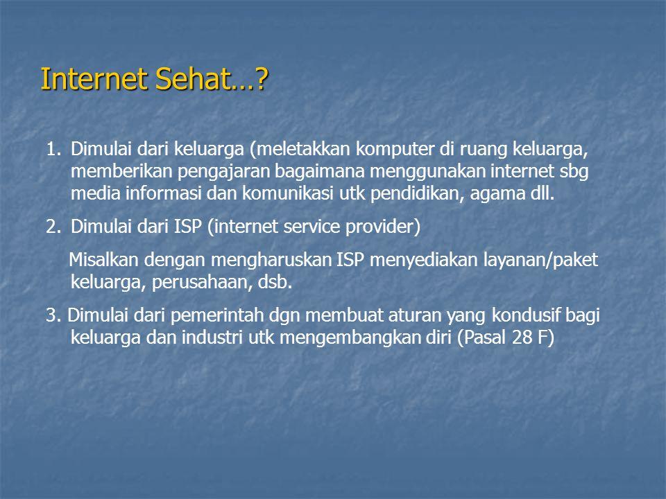 Internet Sehat…