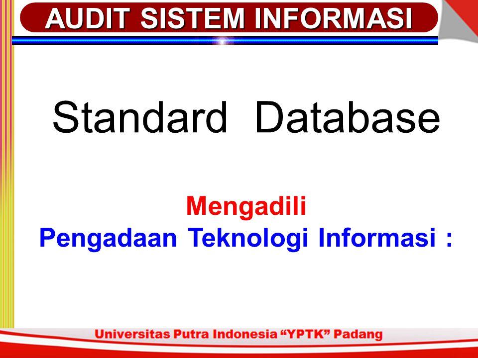 AUDIT SISTEM INFORMASI Mengadili Pengadaan Teknologi Informasi :
