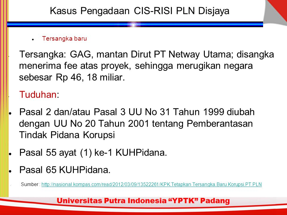 Kasus Pengadaan CIS-RISI PLN Disjaya