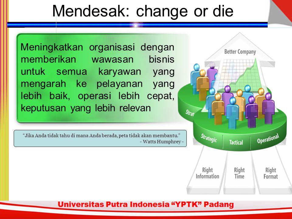 Mendesak: change or die