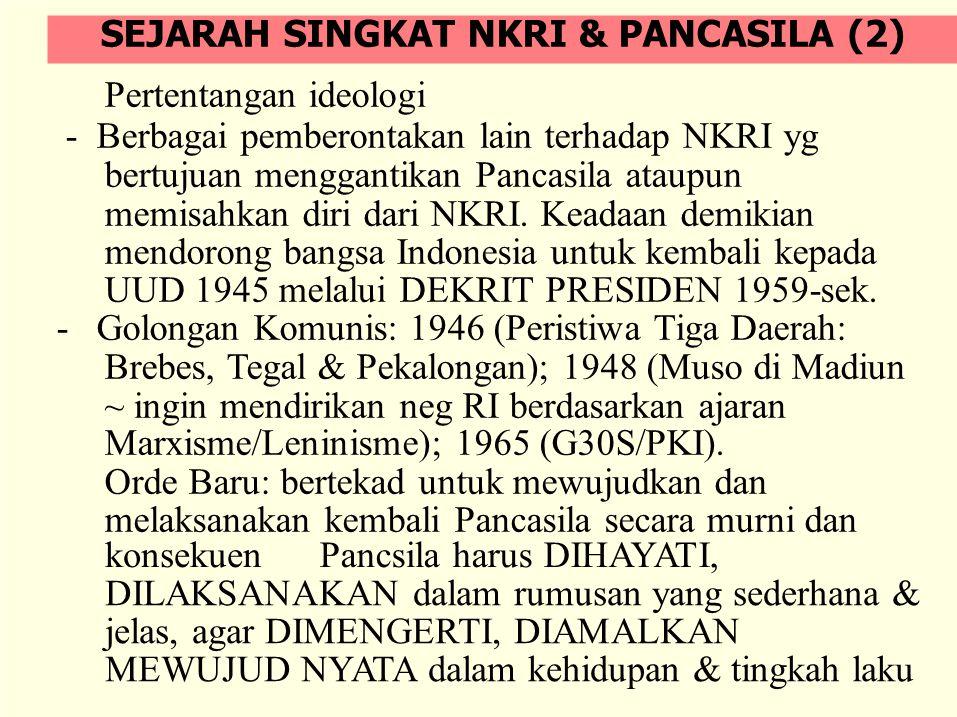 Pertentangan ideologi - Berbagai pemberontakan lain terhadap NKRI yg