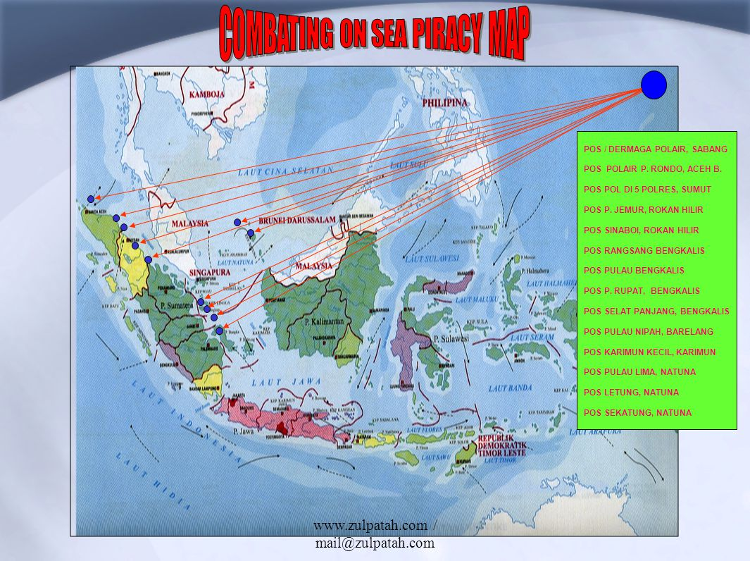 COMBATING ON SEA PIRACY MAP