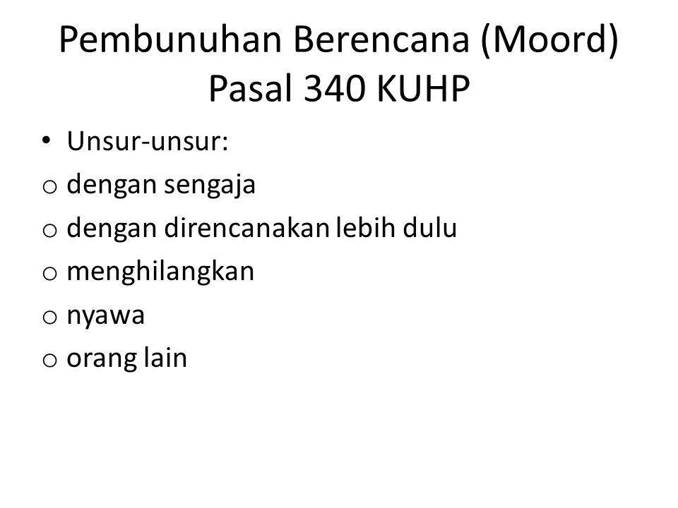 Pembunuhan Berencana (Moord) Pasal 340 KUHP
