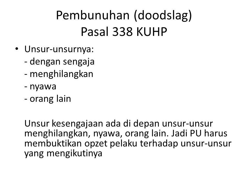 Pembunuhan (doodslag) Pasal 338 KUHP