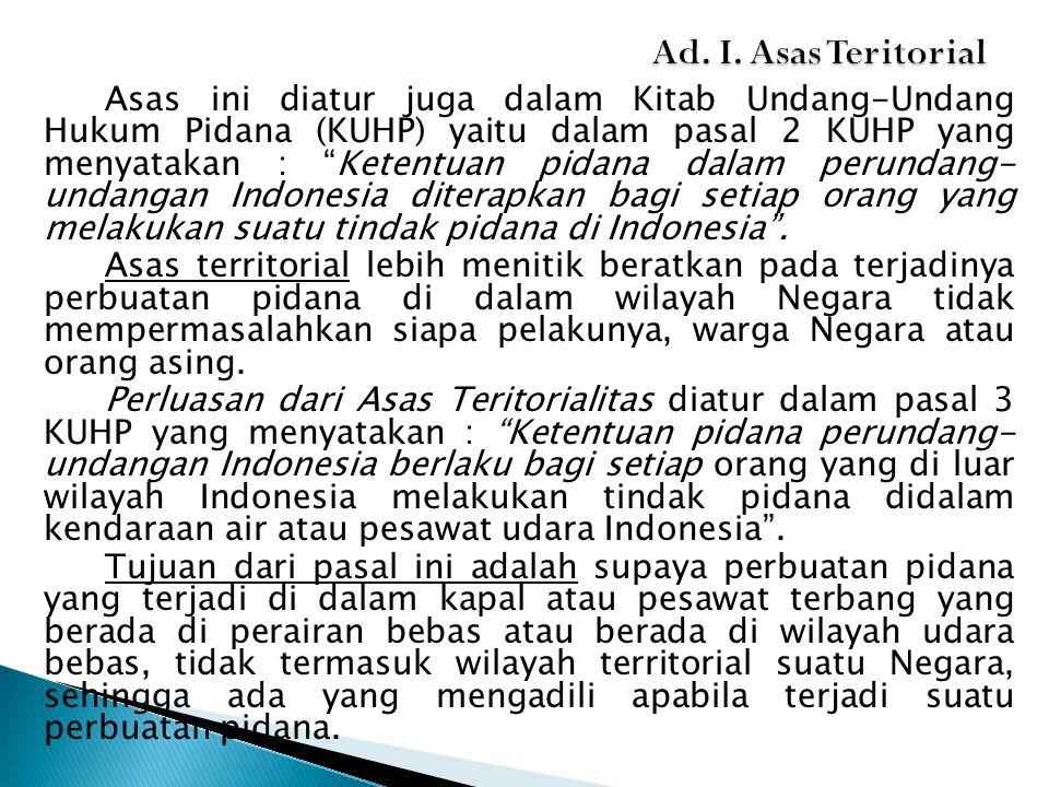 Ad. I. Asas Teritorial