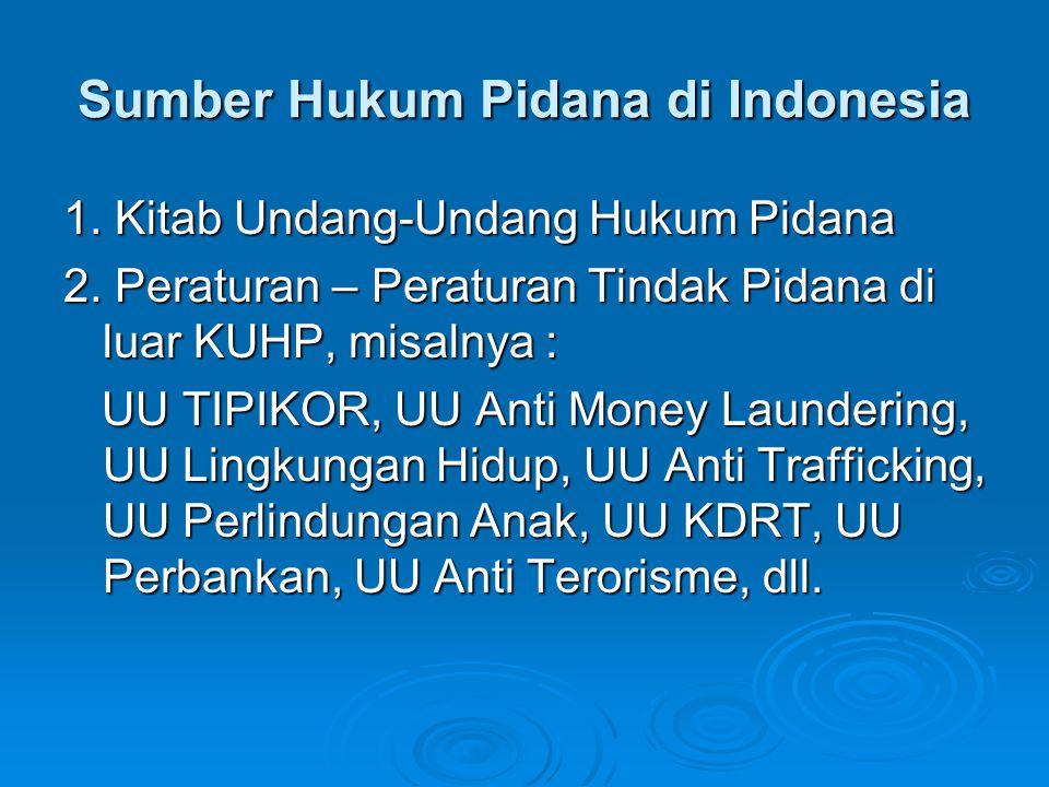 Sumber Hukum Pidana di Indonesia