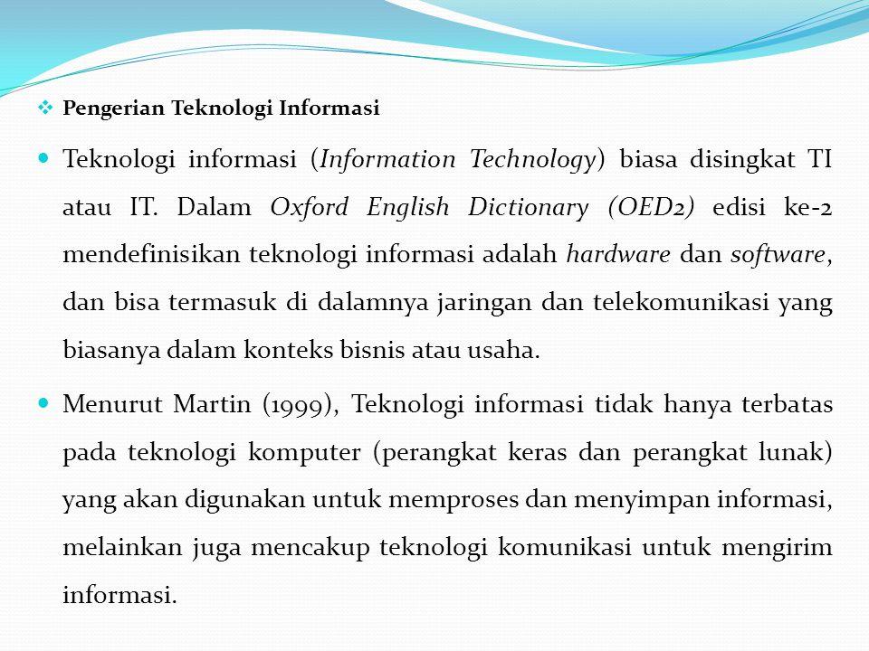Pengerian Teknologi Informasi