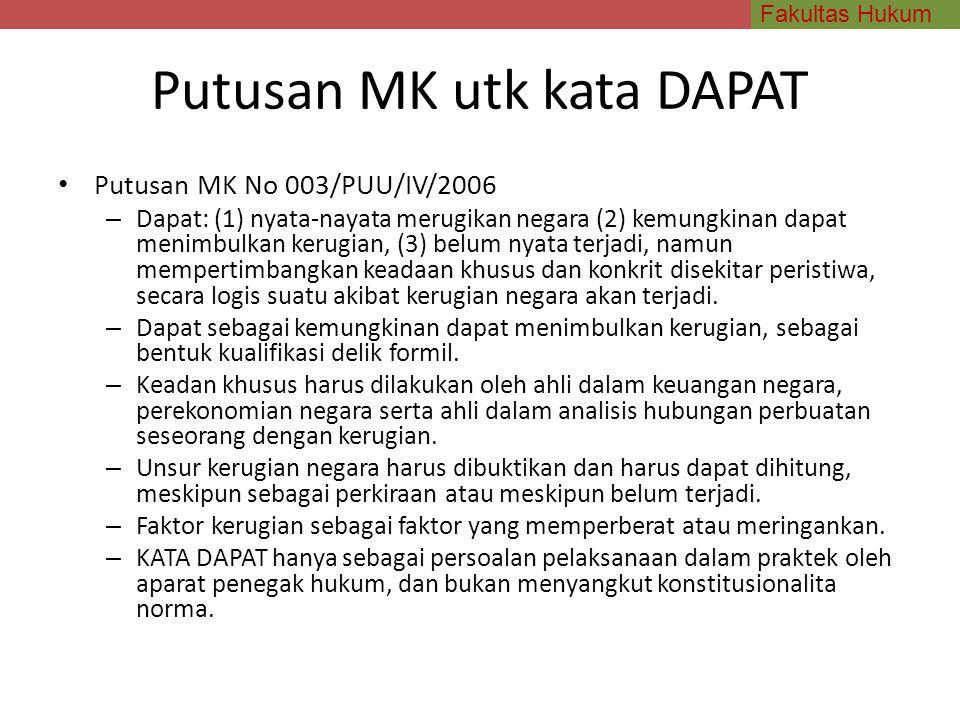 Putusan MK utk kata DAPAT