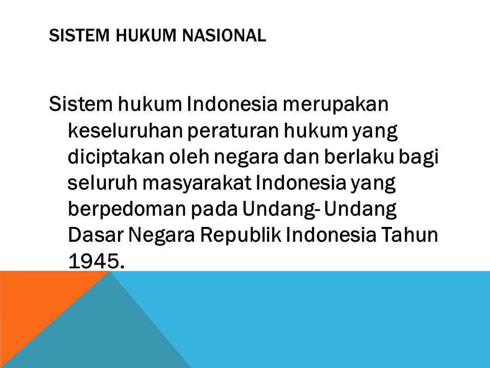 Sistem hukum nasional