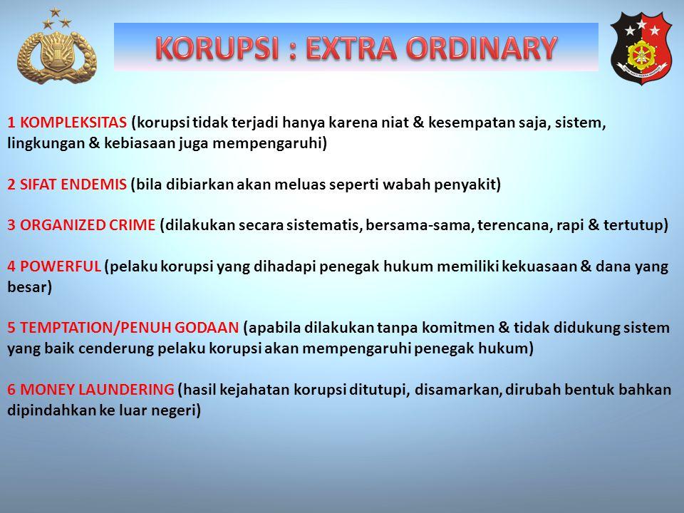 KORUPSI : EXTRA ORDINARY