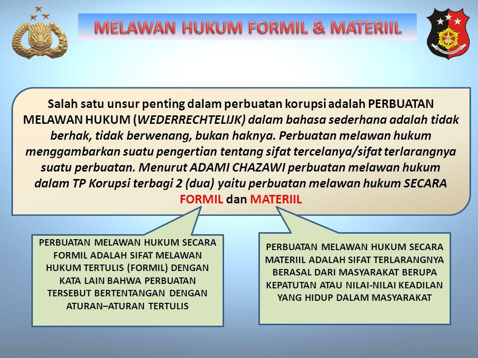MELAWAN HUKUM FORMIL & MATERIIL