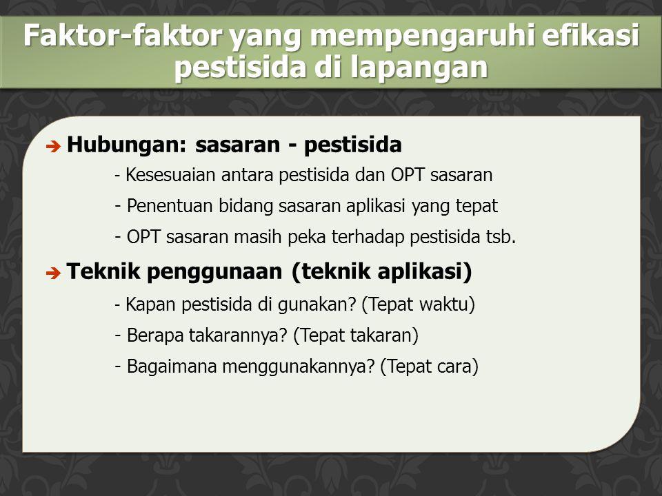 Faktor-faktor yang mempengaruhi efikasi pestisida di lapangan
