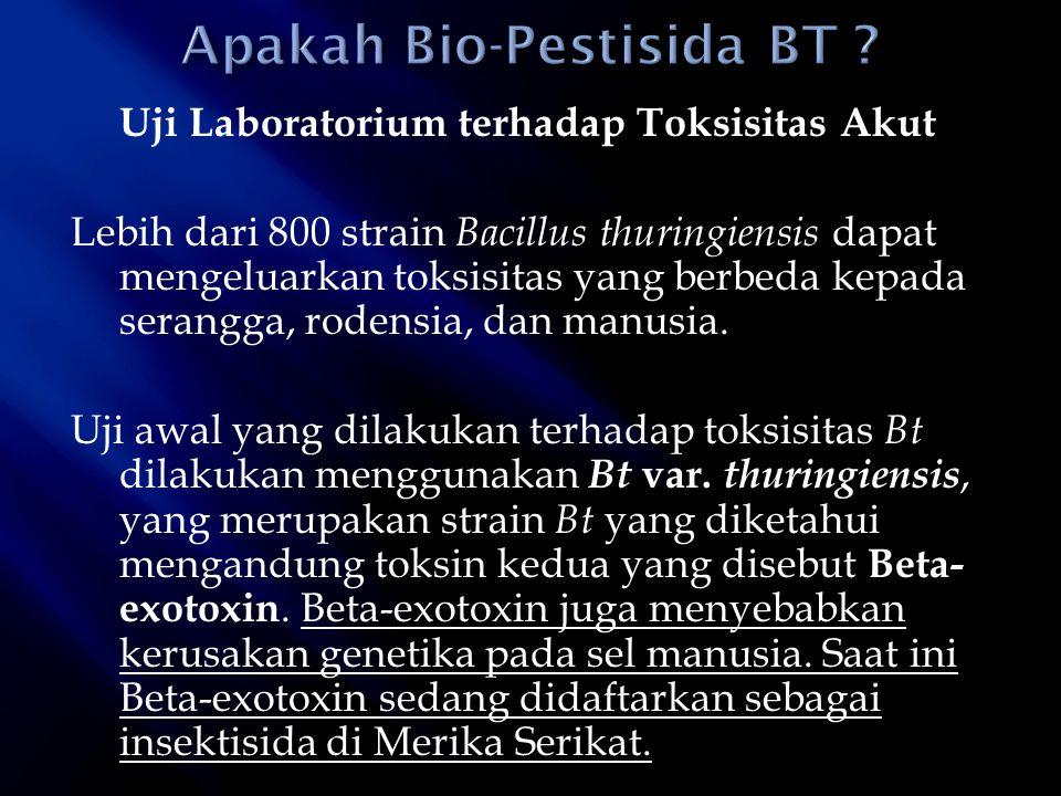 Apakah Bio-Pestisida BT