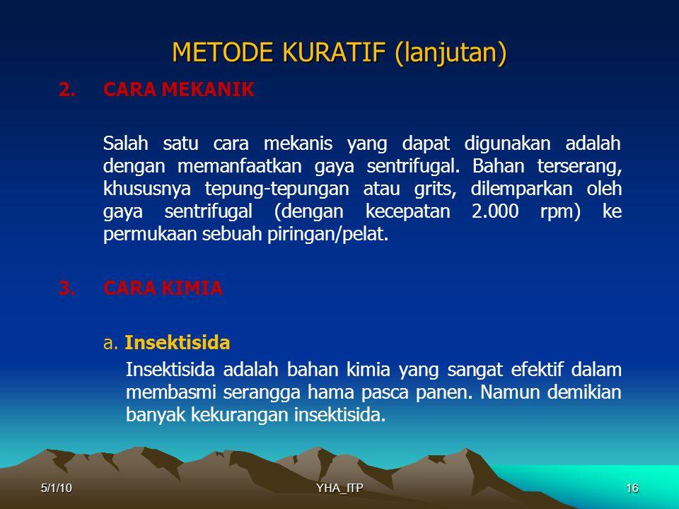 METODE KURATIF (lanjutan)