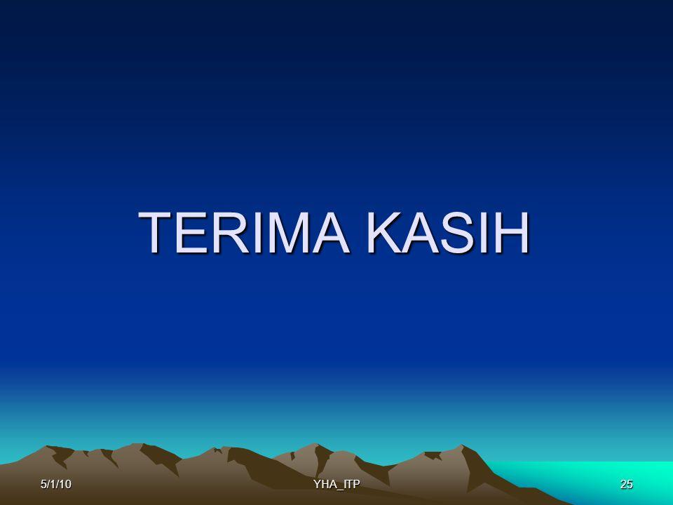 TERIMA KASIH 5/1/10 YHA_ITP