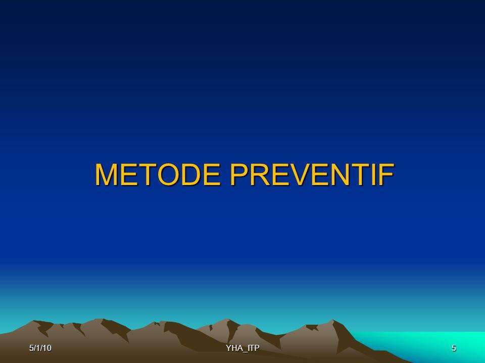 METODE PREVENTIF 5/1/10 YHA_ITP