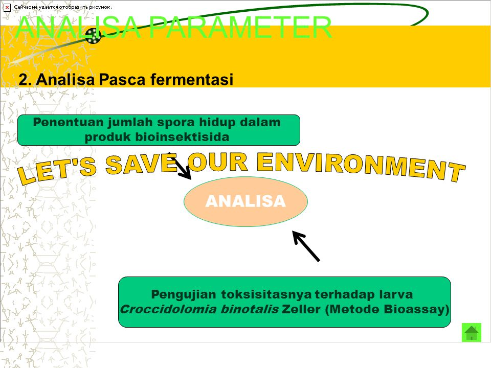 ANALISA PARAMETER LET S SAVE OUR ENVIRONMENT