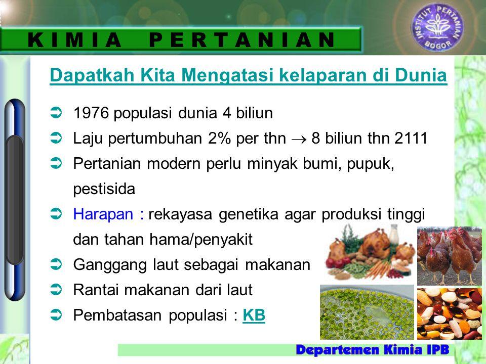 K I M I A P E R T A N I A N Dapatkah Kita Mengatasi kelaparan di Dunia