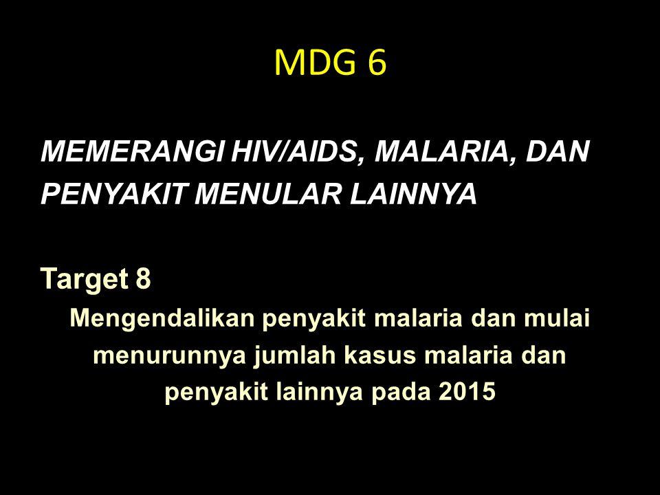 MDG 6 MEMERANGI HIV/AIDS, MALARIA, DAN PENYAKIT MENULAR LAINNYA