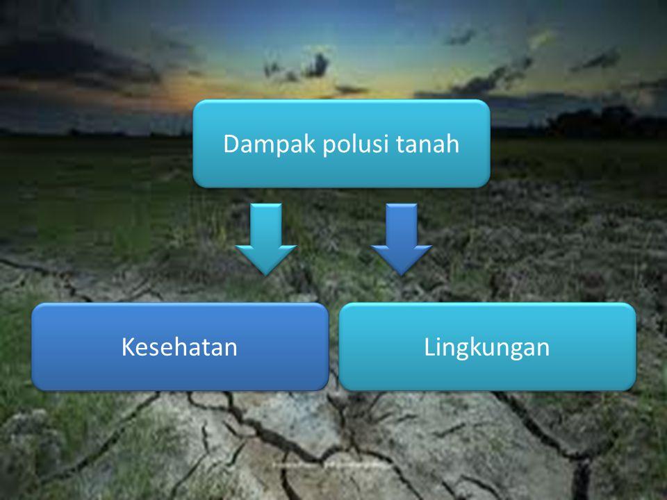Dampak polusi tanah Kesehatan Lingkungan