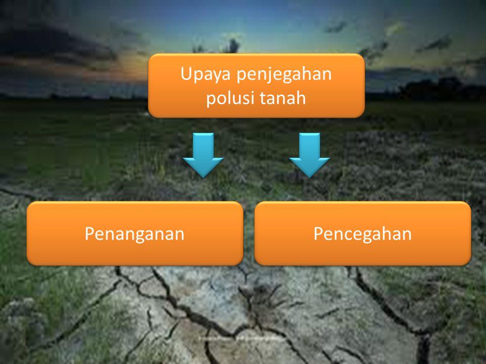 Upaya penjegahan polusi tanah