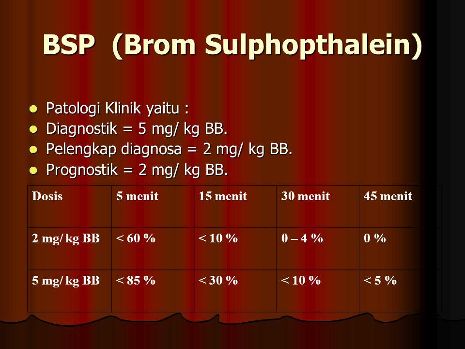 BSP (Brom Sulphopthalein)