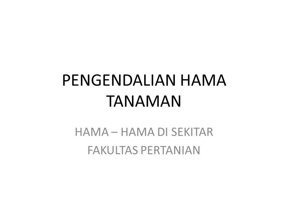 PENGENDALIAN HAMA TANAMAN