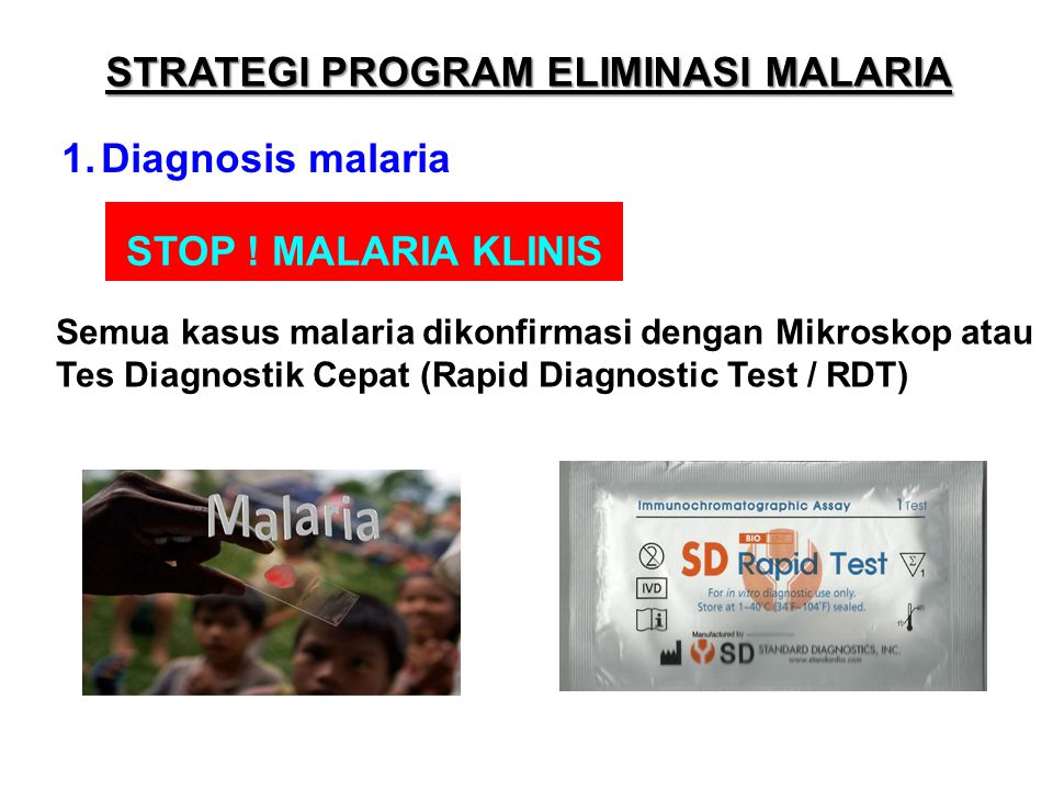 STRATEGI PROGRAM ELIMINASI MALARIA