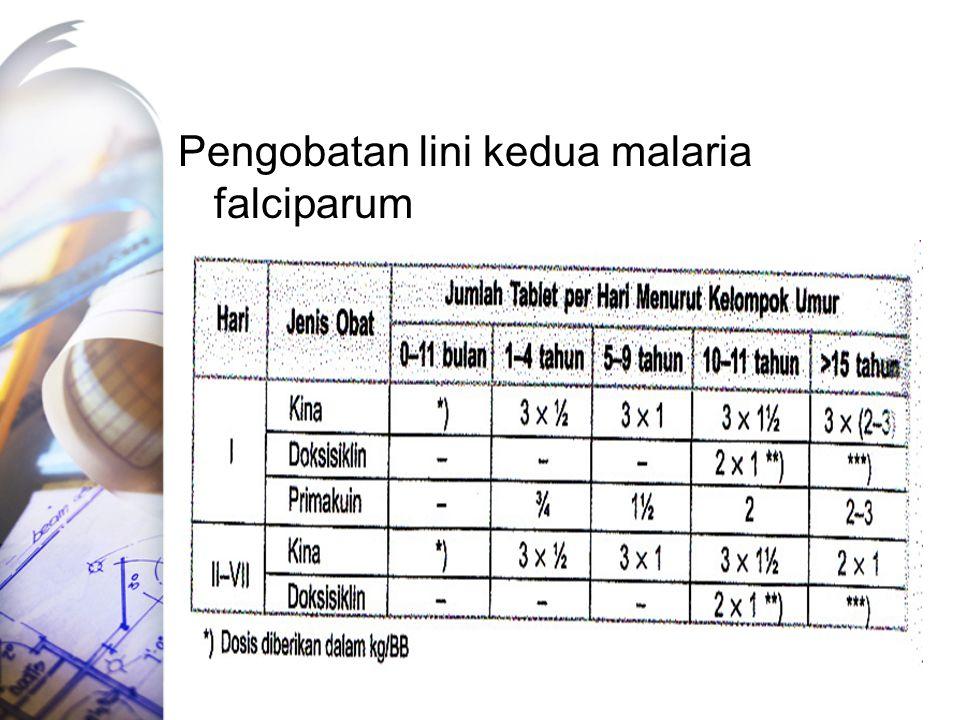 Pengobatan lini kedua malaria falciparum