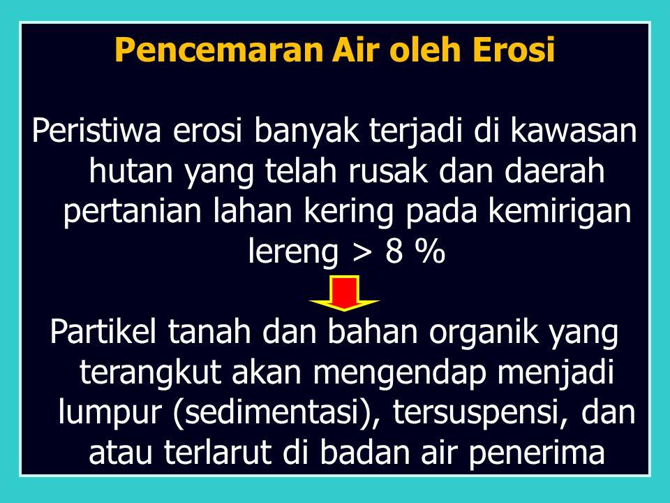 Pencemaran Air oleh Erosi